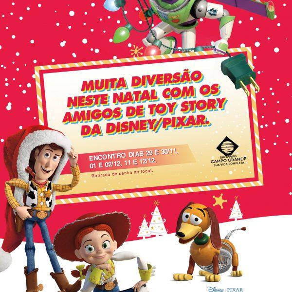 """Personagens do """"Toy Story"""" marcam presença no Natal do Shopping Campo Grande"""