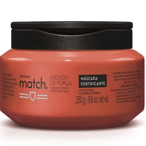 Match Escudo de Força combina vitamina E e lipídeo para um cabelo seis vezes mais forte