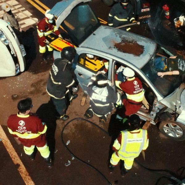 CCR MSVia realiza simulado de acidente com participação de órgãos de trânsito